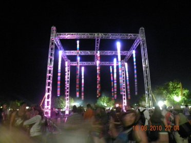 Knitted Festival Lighting Installation