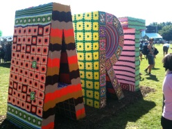 Knitted Large-Scale Letters
