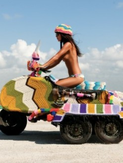 Knitted Scooter, Bali
