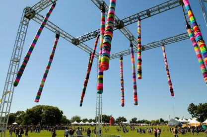 Knitted Lighting Installation // Austin City Limits